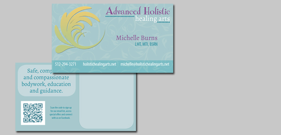 Advanced Holistic Healing Arts Business Cards