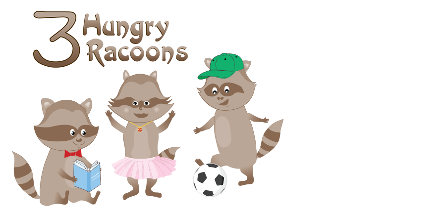 Three Hungry Racoons